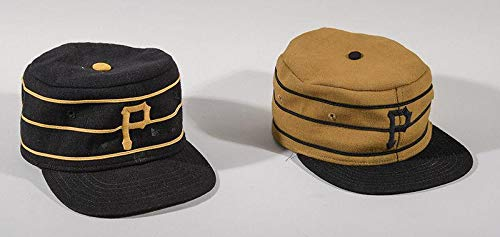 Lot of (2) Richie Hebner, Pittsburgh Pirates Game Worn Pillbox Style Hats - Game Used MLB Hats