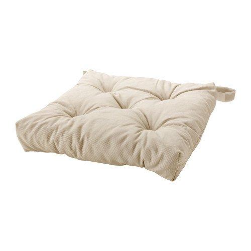 Ikea, cuscino per sedia Malinda, 40/35 x 38 x 7 cm, colore: beige chiaro