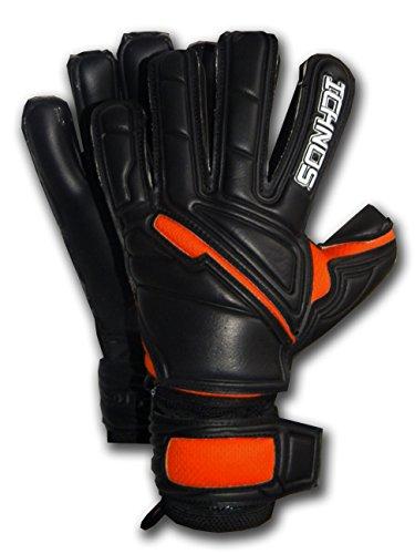 guanti portiere stecche Ichnos Guanti da Portiere Calcio con Stecche Barrette protettive Removibili Nero/Arancione Adulto (9)