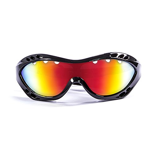 Ocean Sunglasses Costa Rica - Gafas de Sol polarizadas - Montura : Negro Brillante - Lentes: Amarillo Espejo (11801.1)