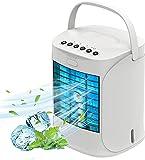 aire acondicionado portatil silencioso,Mini ventilador de refrigeración,3 en 1 acondicionador de aire enfriador,Adecuado para oficina, dormitorio, viajes. (C)