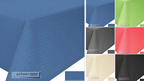 Schwar Textilien Gartentischdecke Tischdecke Weichschaummaterial rutschfest wetterfest 4 Farben (130x160cm eckig, Blau)