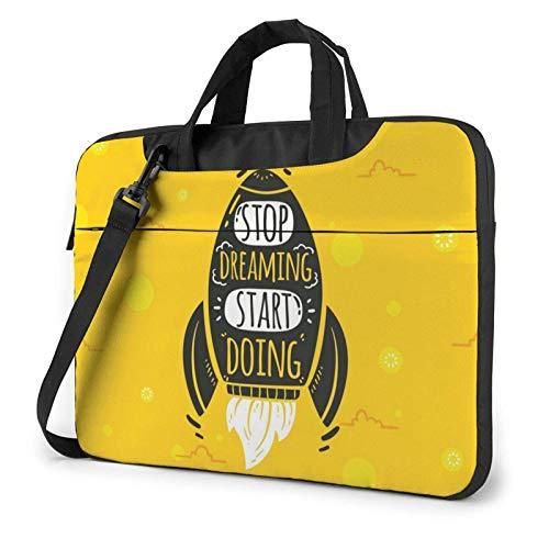 15.6 inch Laptop Shoulder Briefcase Messenger Cartoon Rocket Tablet Bussiness Carrying Handbag Case Sleeve