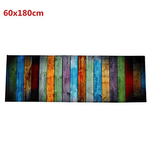 KEAINIDENI wc-mat Kleurrijke wc-mat Badkamer tapijten U-Shape Contour wc-mat Coral Fleece Deurmatten Vloermat Keuken Vloerkleed Thuis Tapijt 60x180cm