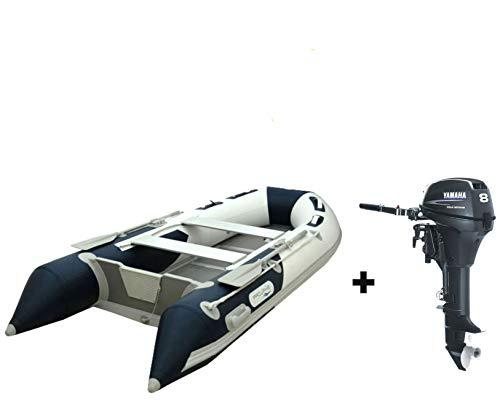 Prowake Schlauchboot mit Motor: Set Aluboden Schlauchboot AL 330cm blau + Yamaha 8 PS Außenborder F8 CMHS