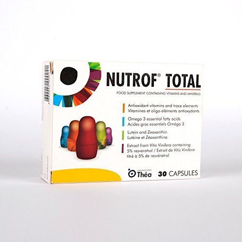 Nutrof Total - 30 Capsules. Food Supplement Containing Vitamins and Minerals. 30 day supply. (Packaging May Vary)