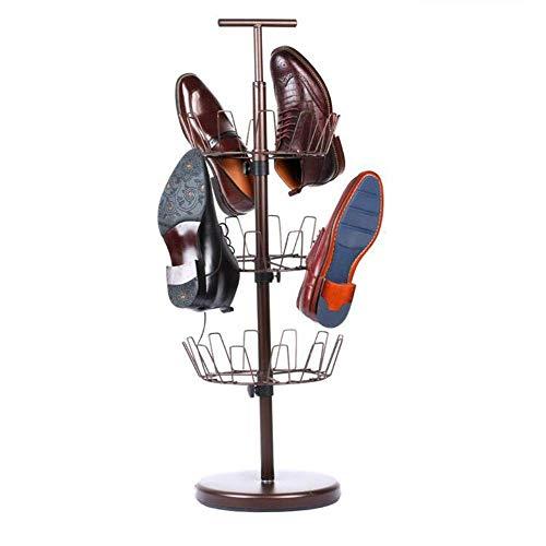 ZAIHW Zapatero Giratorio Ajustable Organizador de Zapatos para Almacenamiento de Zapatos para hasta 18 Pares de Zapatos, marrón 10.8 * 36.8 Pulgadas