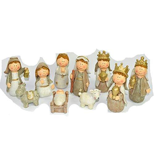 Natale Natività Baby Miniature In Ceramica 10 Pezzi Da 11 Cm Presepe In Miniatura Addobbi