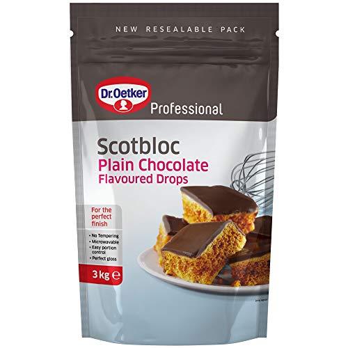 Dr Oetker Professional Scotbloc Plain Chocolate Drops - Pack Size = 1x3kg