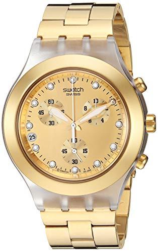 Swatch Herren-Armbanduhr XL Full-Blooded Chronograph Quarz SVCK4032G