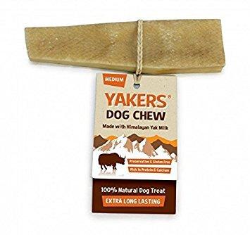 """Yakers, osso da masticare """"Dog Chew"""", per cani, dimensione M, al latte di yak, confezione da 2 (etichetta in lingua italiana non garantita)"""