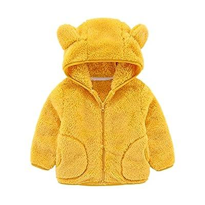 Amazon - 80% Off on Baby Kids Boys Girls Fleece Full Zip Up Hoodie with Bear Ears Solid Color