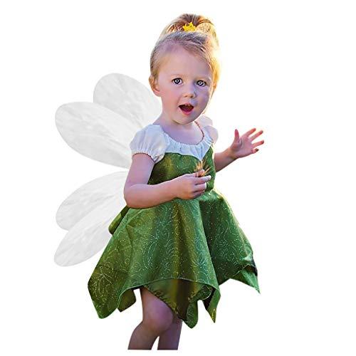 Baby Meisjes Prinses Jurk St Patrick's Day Peuter Kids Kant Tule Paillette Hebben Wings Outfits Rok Kleding Sets Groen Lucky Klaver Gedrukt Ierse Nationale Dag Kleding 1-5 Jaar