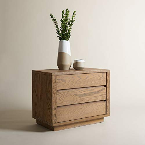 Safavieh Couture Home Collection Holt Brown 3-Drawer Nightstand