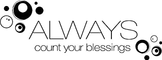 """Tapestry Of Truth - Always Count Your Blessings (Size: 24"""" x 9"""") - TOT921 - Wall and home scripture, lettering, quotes, images, stickers, decals, art, and more!"""