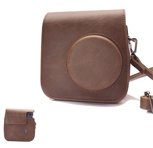 HelloHelio PIC-300 - Funda con correa para cámara de fotos instantánea Polaroid PIC-300, color marrón