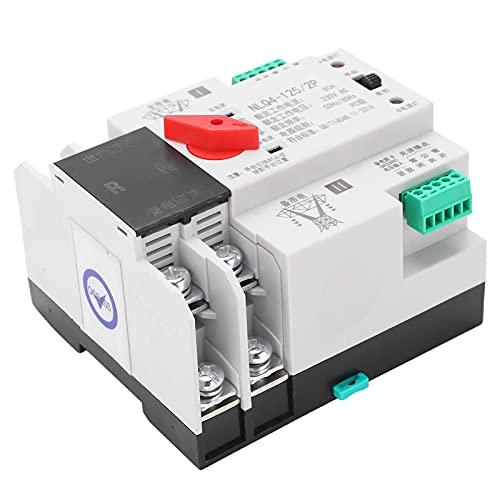 Interruptor de transferencia automática de energía, interruptor 2P de control preciso y duradero para ingeniero para fábrica(80A, rosado)