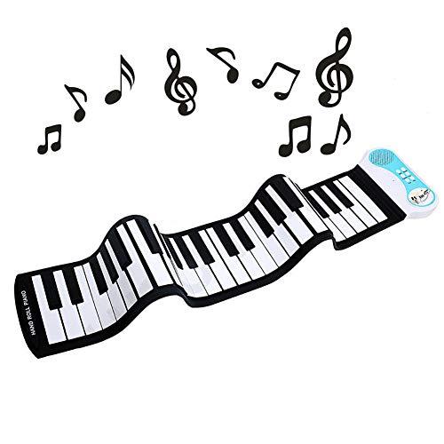 Linzec Roll Up Piano, draagbare 49 toetsen Roll-Up Piano, automatische uitschakeling Roll Up Keyboard Piano, 8 tinten Hand Roll up toetsenbord voor beginners
