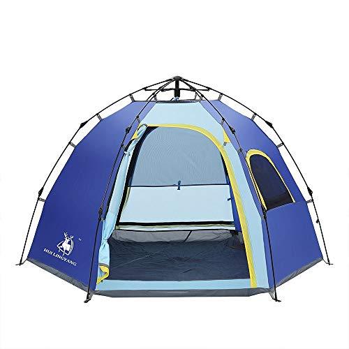WyaengHai tienda de campaña al aire libre de campaña, campaña, campaña, senderismo, equipo de viaje para senderismo, camping al aire libre (color: azul, tamaño: tamaño libre)