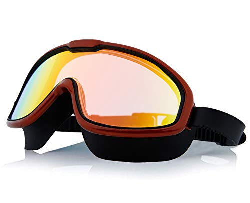 Swimming Goggles Anti Fog No Leaking UV Protection Waterproof Wide...