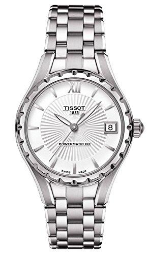 Tissot T-Lady Powermatic 80 Automatisch Mutter von Pearl Zifferblatt Edelstahl Stahl Damen Watch T0722071111600