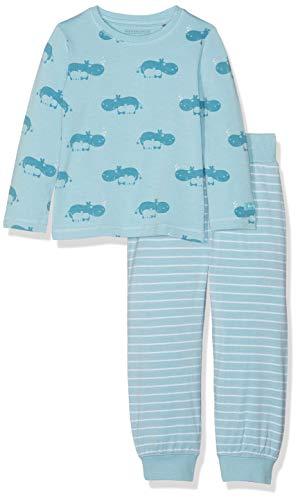 Bellybutton Kids Baby-Jungen 2tlg. T-Shirt 1/1 Arm, Lange Hose Zweiteiliger Schlafanzug, Blau (Petit Four|Cyan 3640), 80