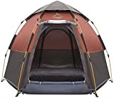Toogh 2-3-4 Person Camping Tent Backpacking Tents Hexagon Waterproof Dome Automatic Pop-Up Outdoor Sports Tent Camping Sun Shelters Provide Top Rainfly, Advanced Venting Design(2021 Update)