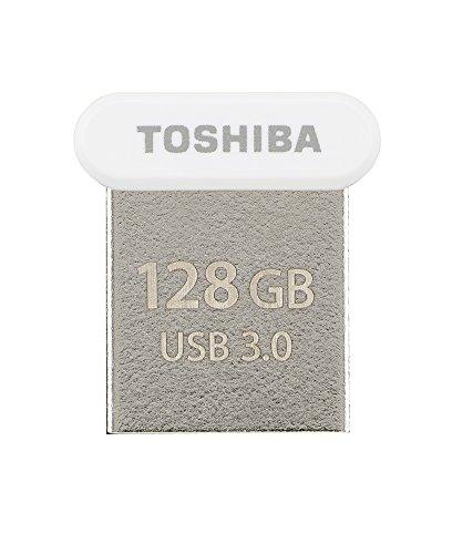 Toshiba THN-U364W1280E4 - Memoria USB 3.0 de 128 GB, Color Blanco
