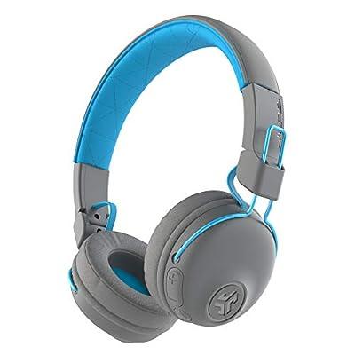 JLab Audio Studio Wireless Headphones, Bluetooth Headphones with 30+ Hour Playtime and Custom EQ3 Sound, On-Ear Headphones with Mic, Grey. from Jlab