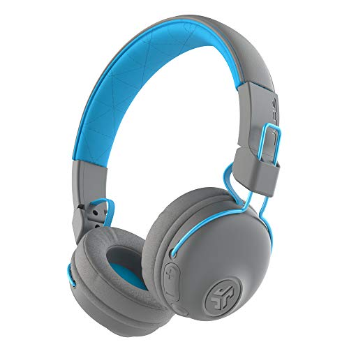 JLab Audio Studio Bluetooth Wireless On-Ear Headphones | 30+ Hour Bluetooth 5 Playtime | EQ3 Sound | Ultra-Plush Faux Leather & Cloud Foam Cushions | Track and Volume Controls | Gray/Blue