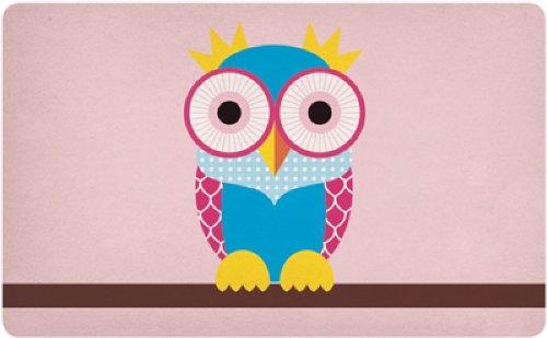 Retro ontbijtplankje uil - Good Life Uwl (A) 14,5 x 23,5 cm