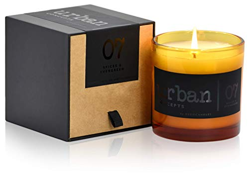 Urban Concepts by DECOCANDLES   Cozy - Mélange of Spices & Evergreen - Highly Scented Soy Candle - Long Lasting - Hand Poured in USA - Signature Scent for The Bohemian Hotel Asheville, NC - 9 Oz.