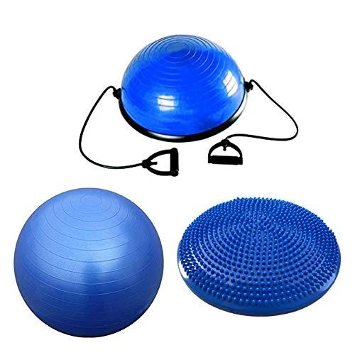 Balance Kit Home Fitness Pack Cuscino Propriocettivo + Swisse Fit Ball + Half Ball | 3 Attrezzi Allenamento (Ø swisse Ball 85 cm)
