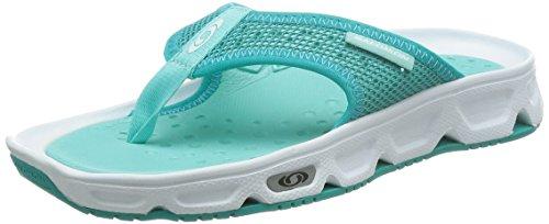 Salomon L38161600, Zapatillas de Trail Running Mujer, Blanco (White/Teal Blue F/Bubble Blue), 42 EU