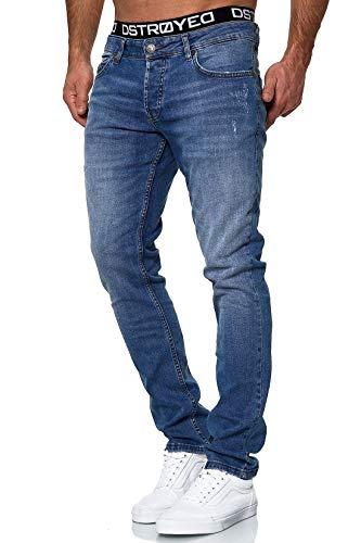 MERISH Jeans Herren Slim Fit Jeanshose Stretch Designer Hose Denim 503 (32-32, 503-2 Blau)