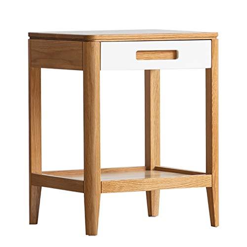 Saladplates-LXM End Tables, Solid Wood Side Table, Nordic Oak Side Table, Modern Minimalist Seating Corner Table