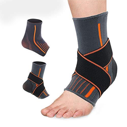 Ankle Ondersteuning Brace Compressie Ademende voet Elastische Guard Band L