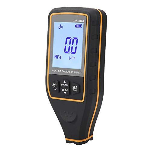 Los datos profesionales de prueba de códigos de coche soportan un espesímetro digital ampliamente utilizado para revestimientos de goma para esmalte.