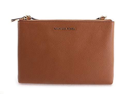 "2 Zipper Closure, 1 Middle Open Compartment, 6 Credit Card Slots, 2 Open Pockets Leather/Signature Coated Canvas 10""L X 7""H X 2""W 21-24"" Adjustable Shoulder Strap"