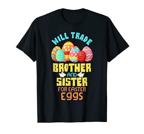 Will Trade Brother & Sister per le uova di Pasqua cioccolato Maglietta