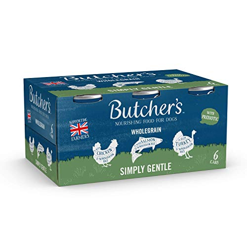 BUTCHER'S Simply Gentle Wholegrain Recipes Wet Dog Food Tin Cans Variety pack, 9.36kg (24 x 390g)