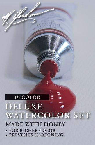 M. Graham GRM-33-10SET Intermediate 10-Color Watercolor Paint Set