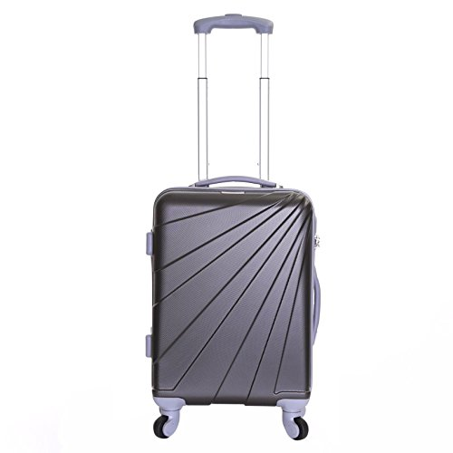 Slimbridge Hard Cabin Carry-on Hand Luggage Suitcase Bag 55 cm 2.5 kg 35 litres 4 Spinner Wheels Number Lock, Fusion Graphite