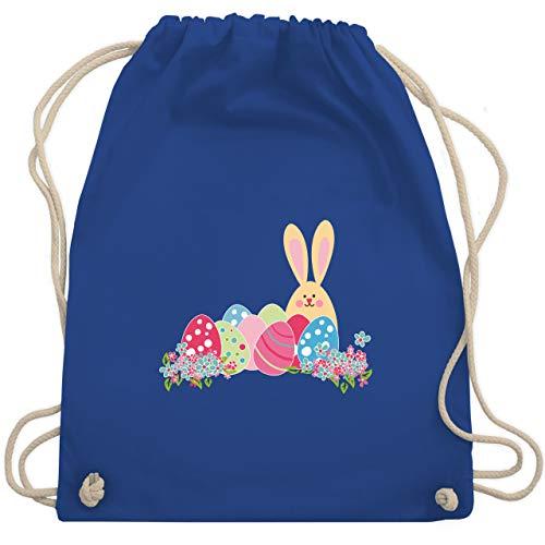 Shirtracer Ostern - Osterhase mit Eiern - Unisize - Royalblau - geschenktüten turnbeutel - WM110 - Turnbeutel und Stoffbeutel aus Baumwolle
