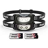 Energizer (2-Pack LED Headlamp, Bright and Durable, Lightweight, Built for Camping, Hiking, Outdoors, Emergency Light, Best Head Lamp for Adults and Kids, Batteries Included