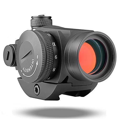 Cyelee Reflex Red Dot Sight 1x25mm, 2MOA Compact Red Dot Scope, with Weaver/Picatinny Rail for Rifles, Shotguns, and Handguns (T1-Mechanical Adjustment)