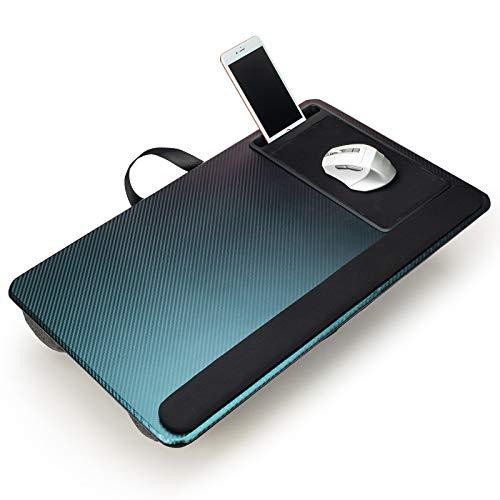 Modazon Supporto per computer portatile per letto con supporto per telefono, cuscino portatile per divano con tappetino per mouse e poggiapolsi, adatto per laptop fino a 17 pollici