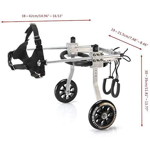 Roller voor rolstoel, draagbaar, voor honden en huisdieren in rolstoel, winter, Vespa kat, rolstoel, revalidatie, rond, kinderwagen, rolstoel voor M, S