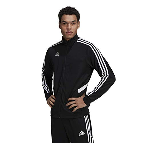 adidas Men's Alphaskin Tiro Training Jacket, Black/White, X-Large