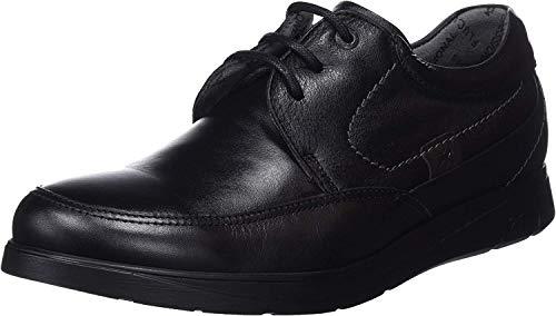 Fluchos New Professional, Zapatos de Trabajo para Hombre, Negro (Sanotan Negro Negro), 44 EU